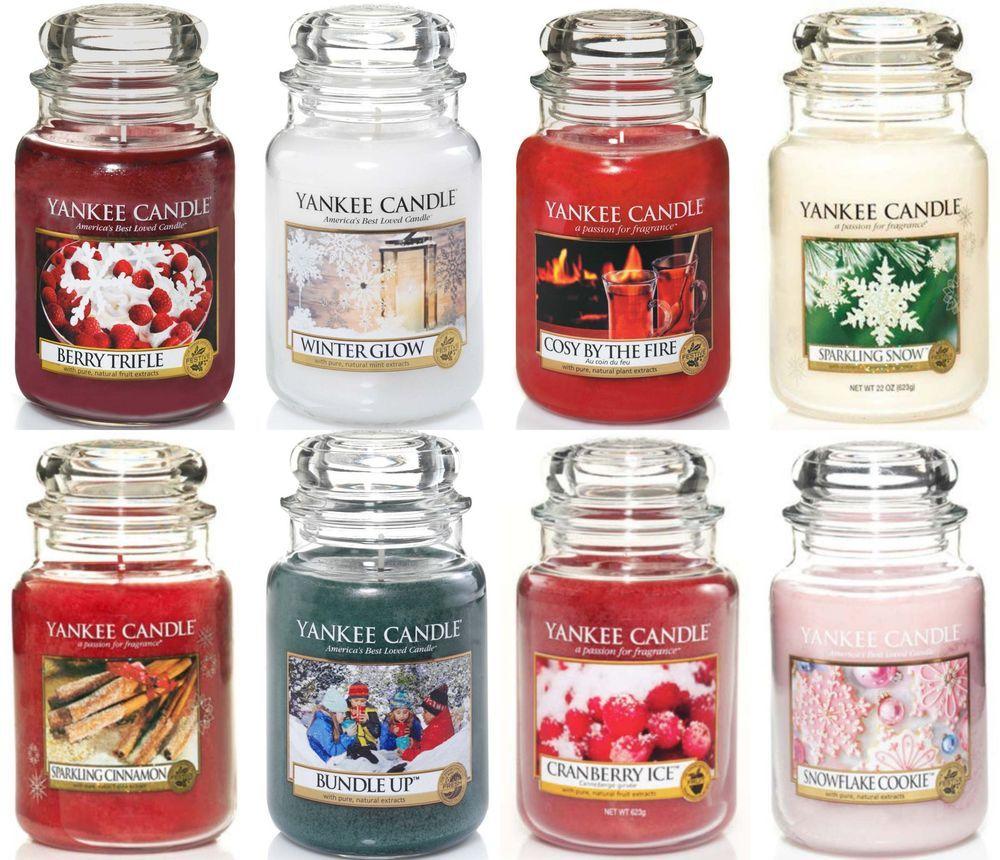 Yankee Candle Large Jar 22oz   All 19 New Christmas 2015 Fragrances # YankeeCandle