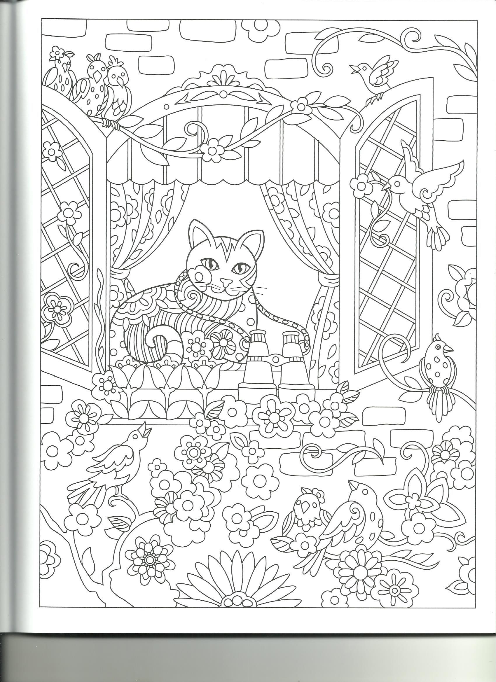 Adult Coloring, Coloring Pages, Coloring Sheets, Coloring Books, Printable  Coloring, Cat Colors, Creative Inspiration, Papercraft, Fiber Art