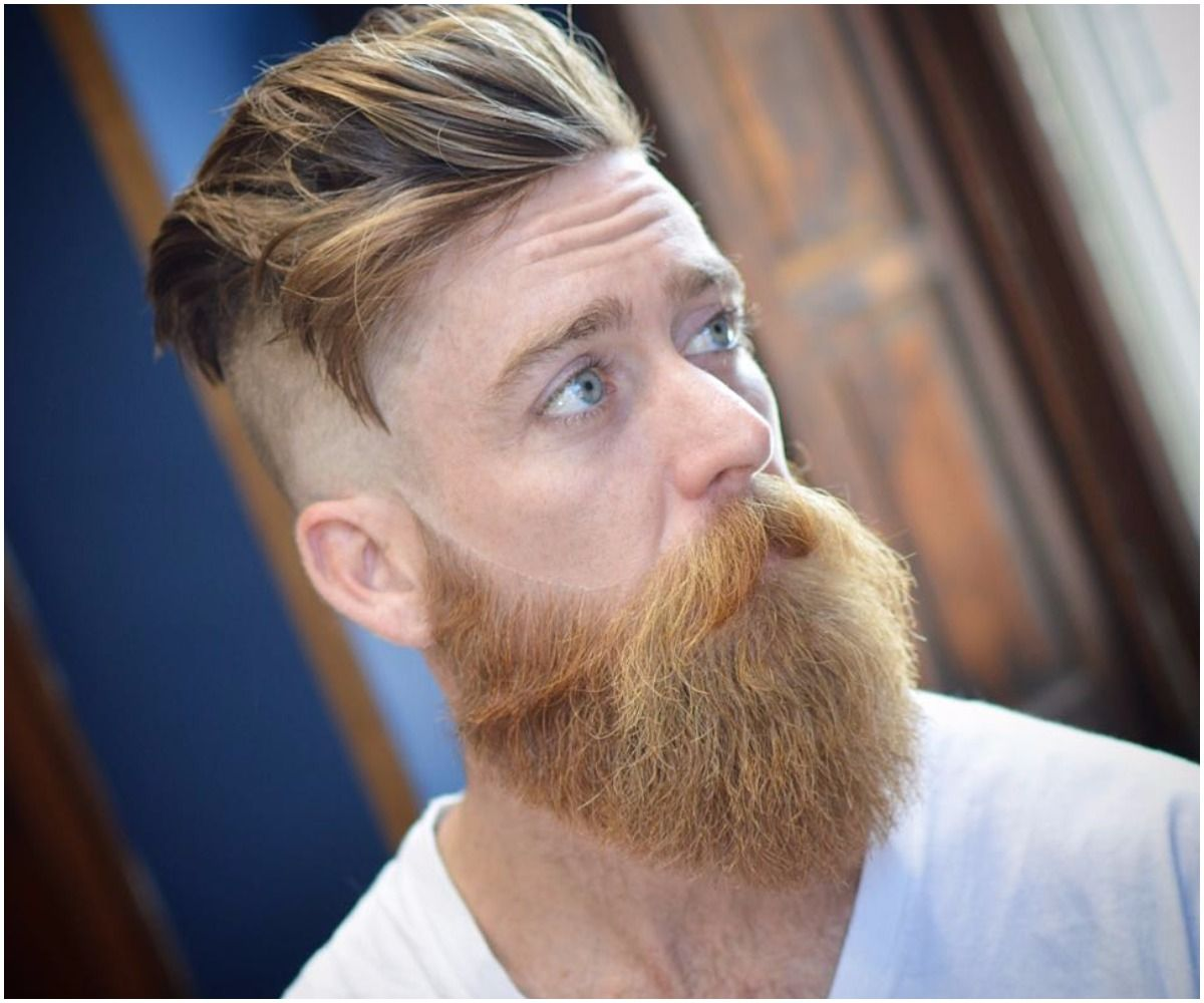 Popular haircut for men 2018 natural beards shape has no proper shape thats why people are