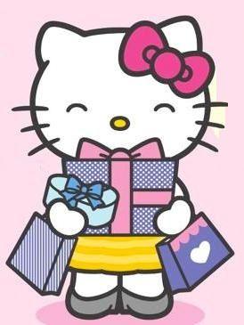 Shopping Hello Kitty Love Geburtstag Niedlich Gluckwunsche