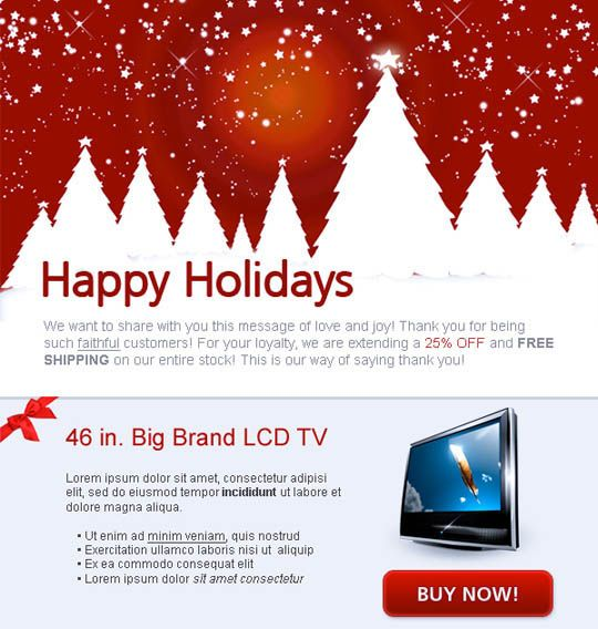 17 Beautifully Designed Christmas Email Templates For Marketing Your Products Newsletter Templates Email Newsletter Template Business Newsletter Templates