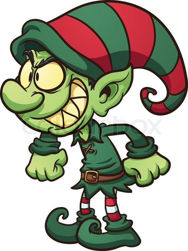 evil christmas elf vector clip art illustration with simple rh pinterest co uk clip art elf on shelf free elf clipart