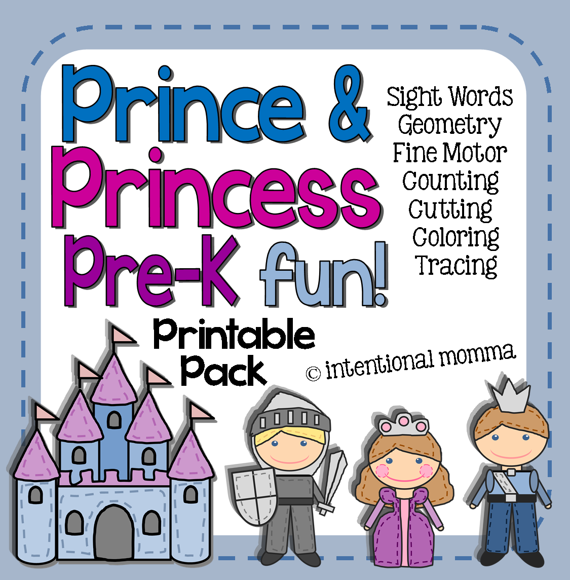 Prince And Princess Printable Pre K Pack Tons Of