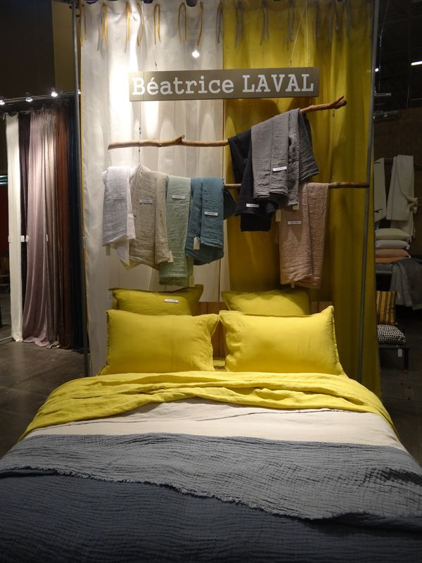 drap en lin lav acacia maison objet 2015 le monde sauvage linge de lit plaids. Black Bedroom Furniture Sets. Home Design Ideas