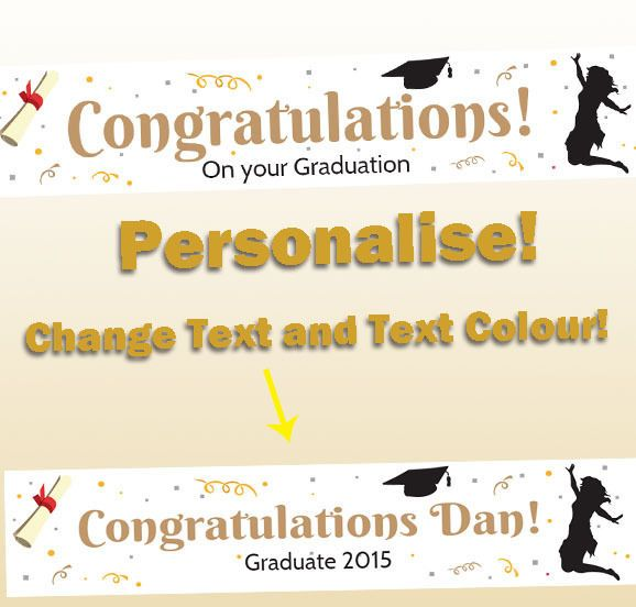 http://www.ebay.com.au/itm/Graduation-Party-Banner-Congratulations-White-Decorations-Supplies-Diploma-Caps-/111803580657?ssPageName=STRK:MESE:IT #party #PartyDecorations #Party Supplies