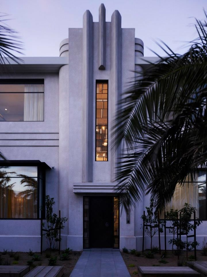 Art deco style house also homes arquitectura fachadas rh co pinterest