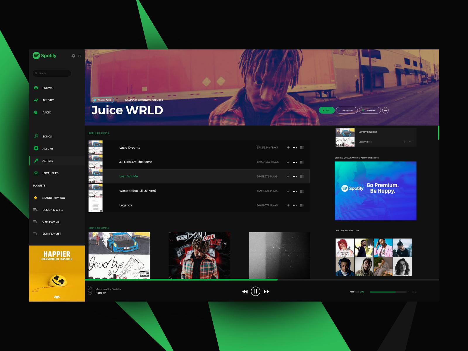 Spotify Windows Application Re Design Spotify Design Windows