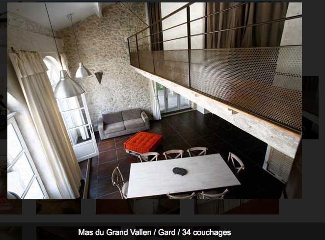 salon du gîte Oustal
