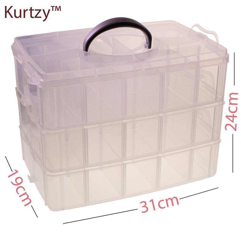 3 Piece Transparent Mini Plastic Storage Box Nail Art Nail Polish ...