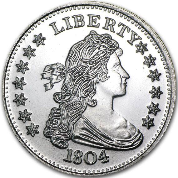 1 Oz 1804 Silver Dollar Round 999 Fine Silver Round Replica Gorgeous From Riggsbyscorner 39 99 Silver Bullion Silver Dollar Silver Rounds