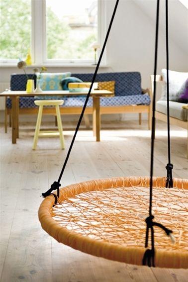 Fun and Relaxing Indoor Swings  Home  Indoor swing Room