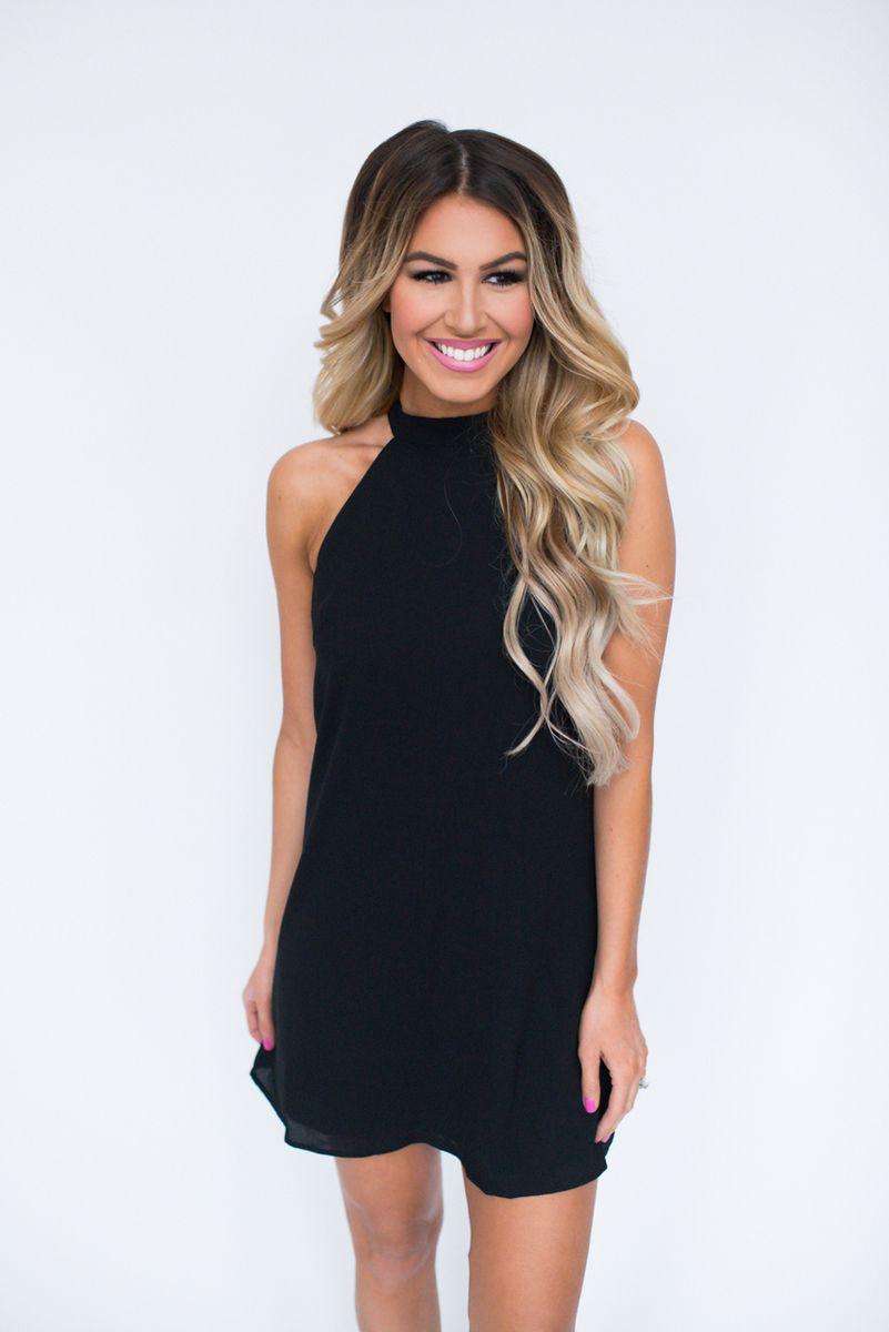 Black Halter Dress - Dottie Couture Boutique | Dottie Couture ...