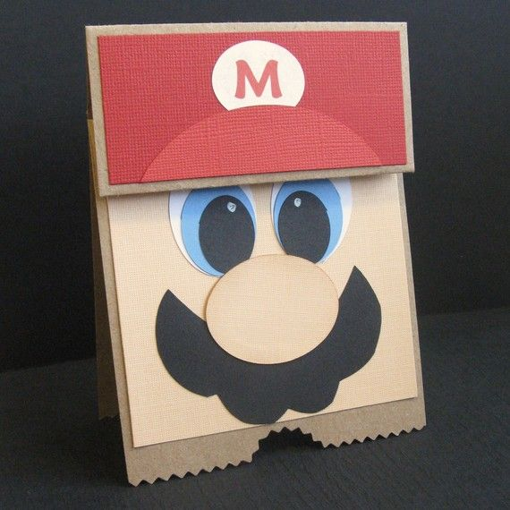It S Mario Time Birthday Greeting Card Party Invitation