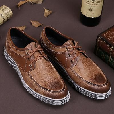 real leather men casual walking boat shoes men's stylish