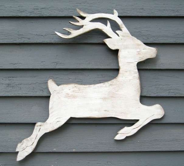 Decoraci n de navidad en madera fotos ideas originales for Trineo madera decoracion