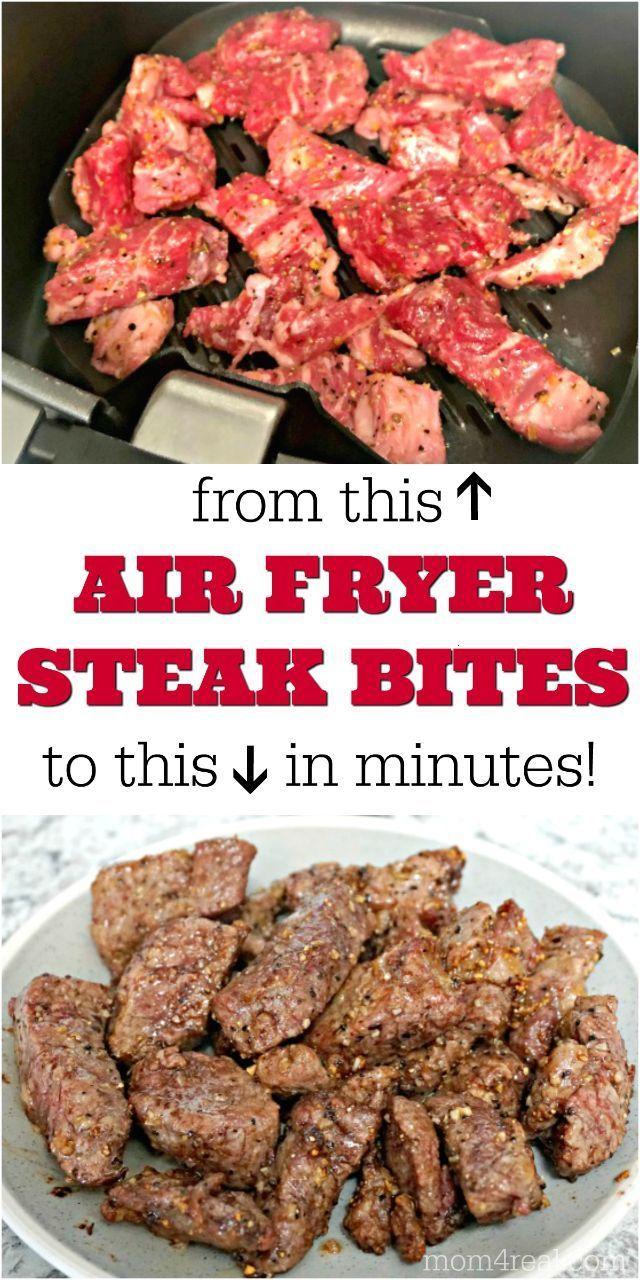 Easy Air Fryer Steak Bites Recipe Air Fryer Dinner Recipes