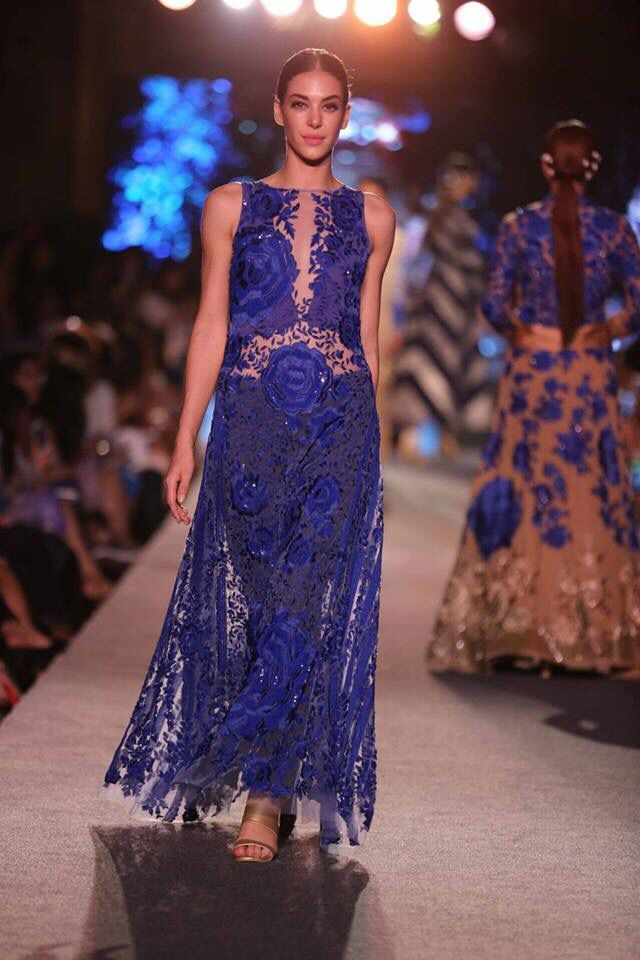 Lakme Fashion Week Summer 2015 - Manish Malhotra Blue Runway ...
