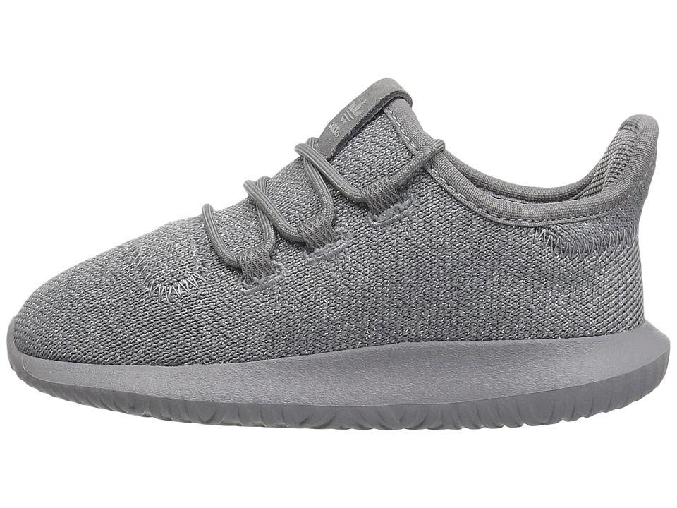 8d0b584f6ad adidas Originals Kids Tubular Shadow (Toddler) Boys Shoes Grey 3 Silver  Metallic
