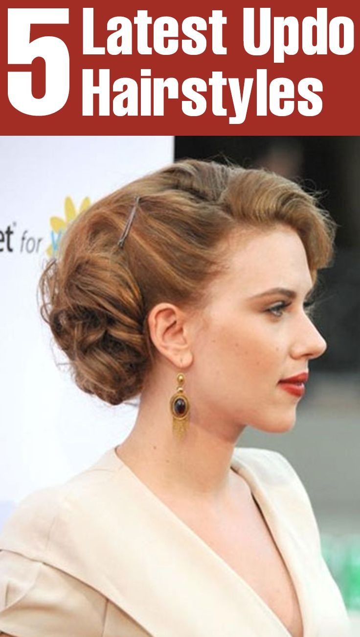 5 Latest Updo Hairstyles Pinterest Updo Easy Updo Hairstyles