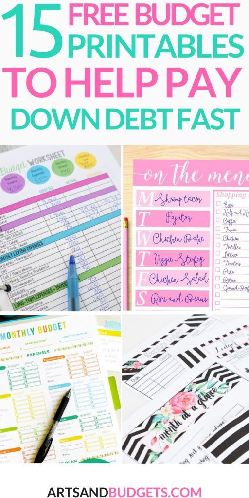15 Free Budget Printables That Will Help Pay Down Debt Fast