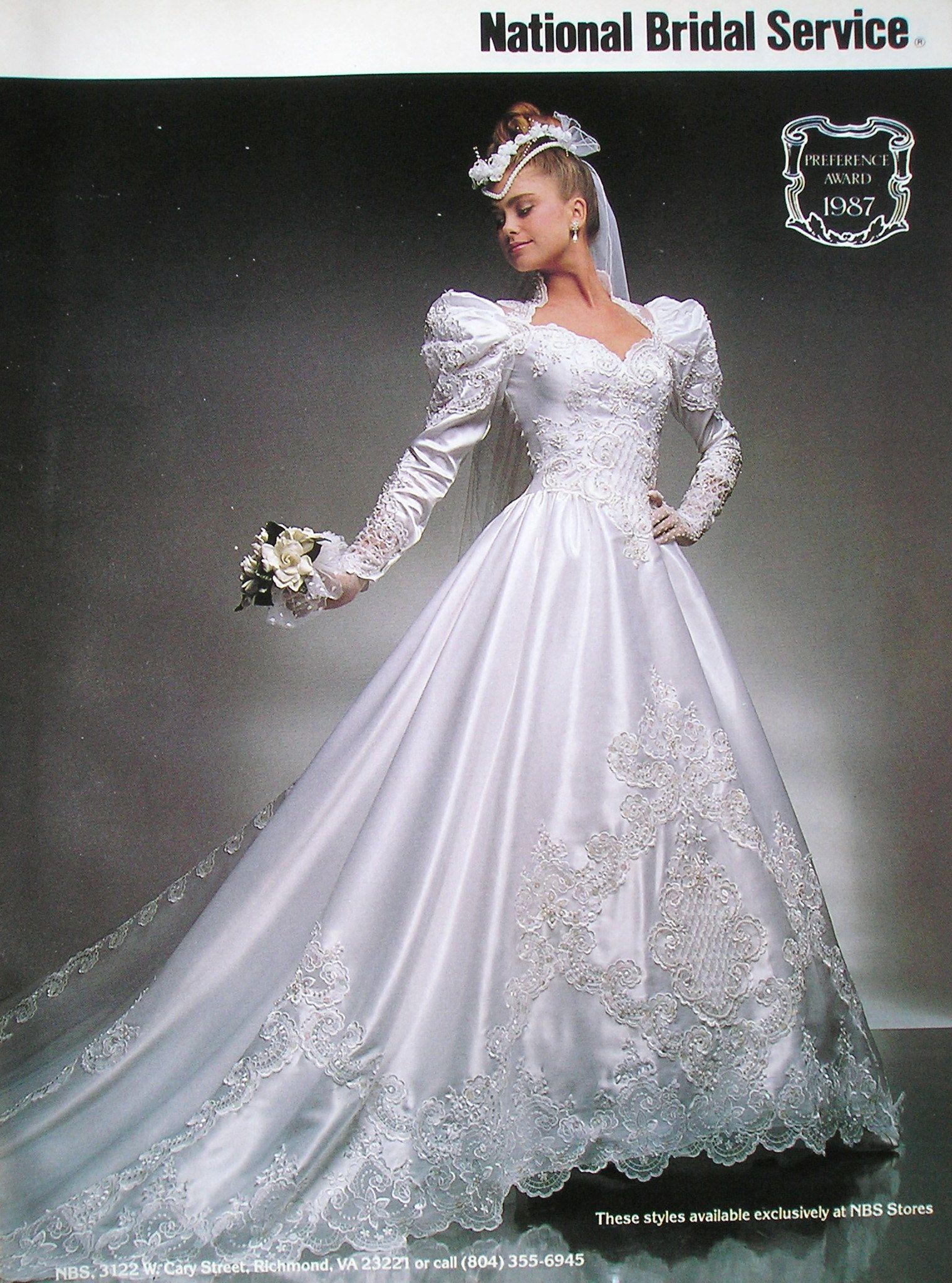 1987 Kathy Ireland (With images) Wedding dresses 80s