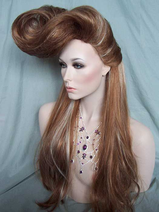 Blonde Mix French Roll Drag Queen Wig | Drag Queen Wigs ...