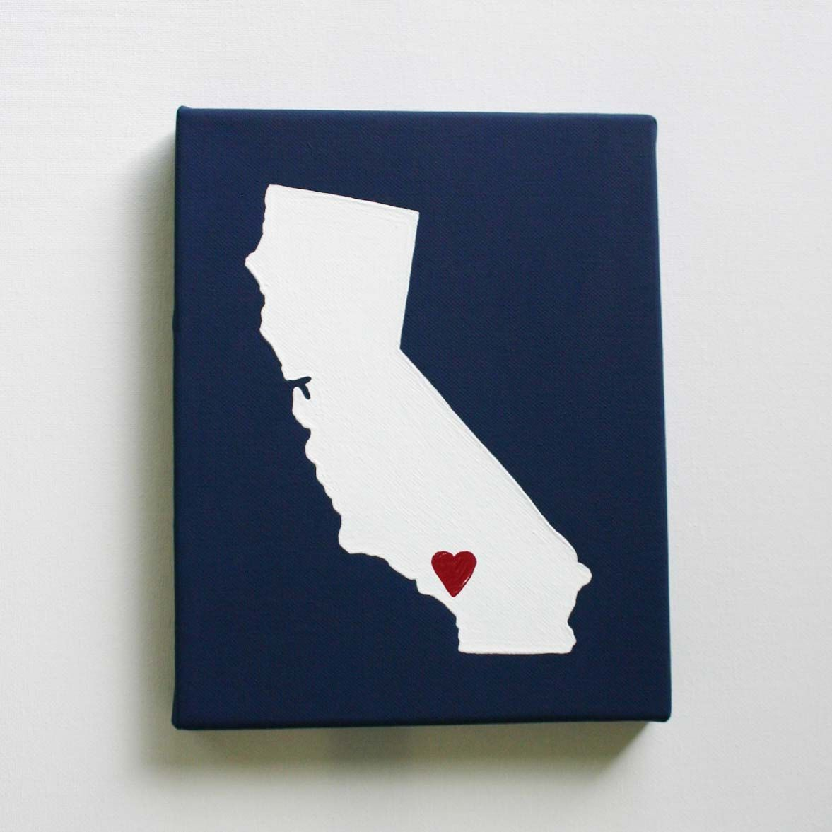 California State Map State Love State Silhouette