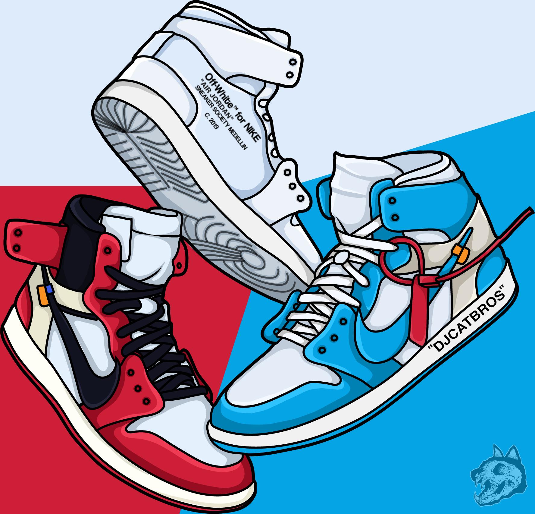 Off White Illustracion Draw Sneaker Draw Jordan 1 Draw