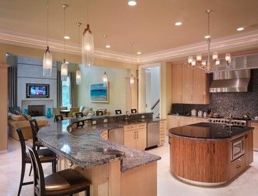 Blonde Cabinets Design Ideas Pictures Remodel And Decor Page 55 Curved Kitchen Island Curved Kitchen Round Kitchen Island