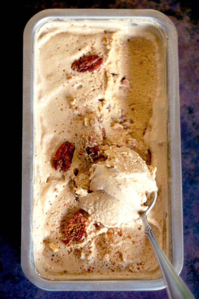 Pecan Pie Ice Cream! Vegan, Paleo and refined sugar free! A healthier treat this festive season.