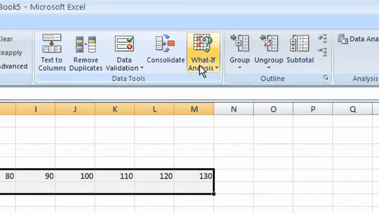 Sensitive Analysis on Excel | IT 682 Enterprise Analytics