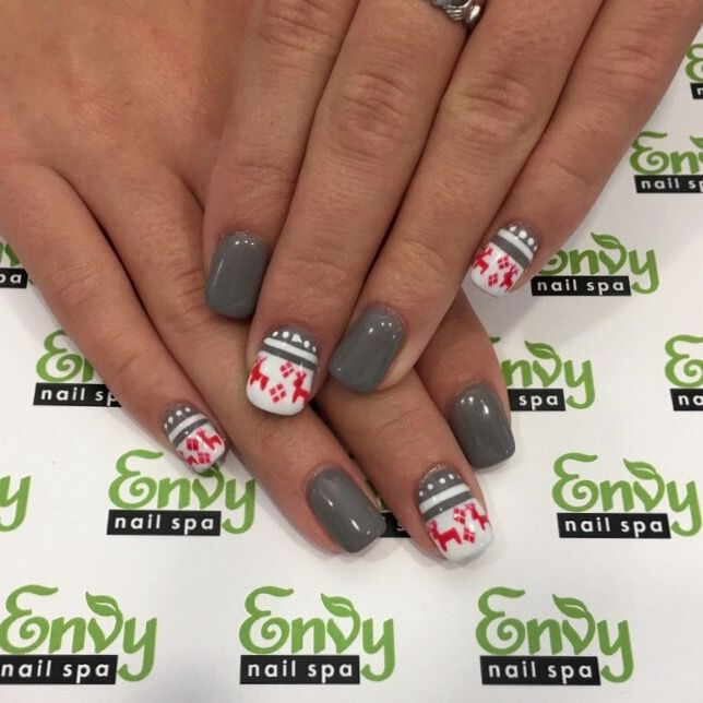 Sweater, Reindeer Nails - Envy Nail Spa | Christmas & Winter ...