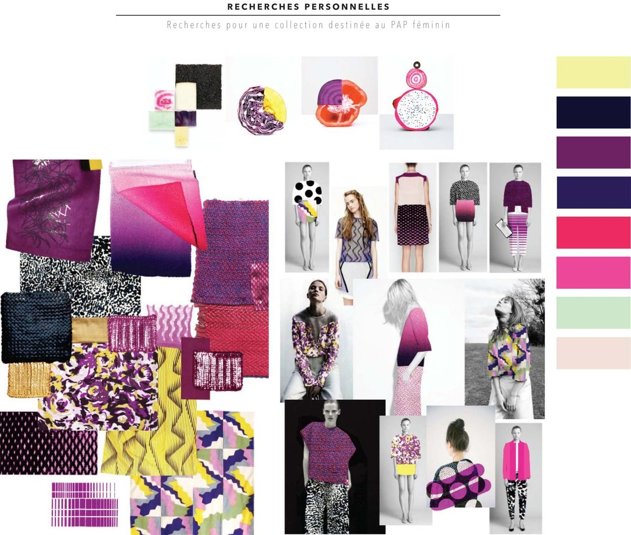 Mathilde Bregeon Personal Inspiration Research Board Love The Colours Mood Board Fashion Creative Display Textiles Sketchbook