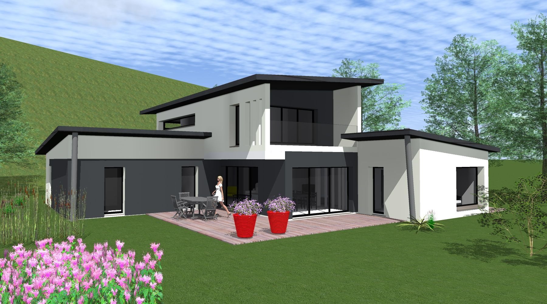 Projet maison plan achat maison neuve construire - Belle maison a construire ...