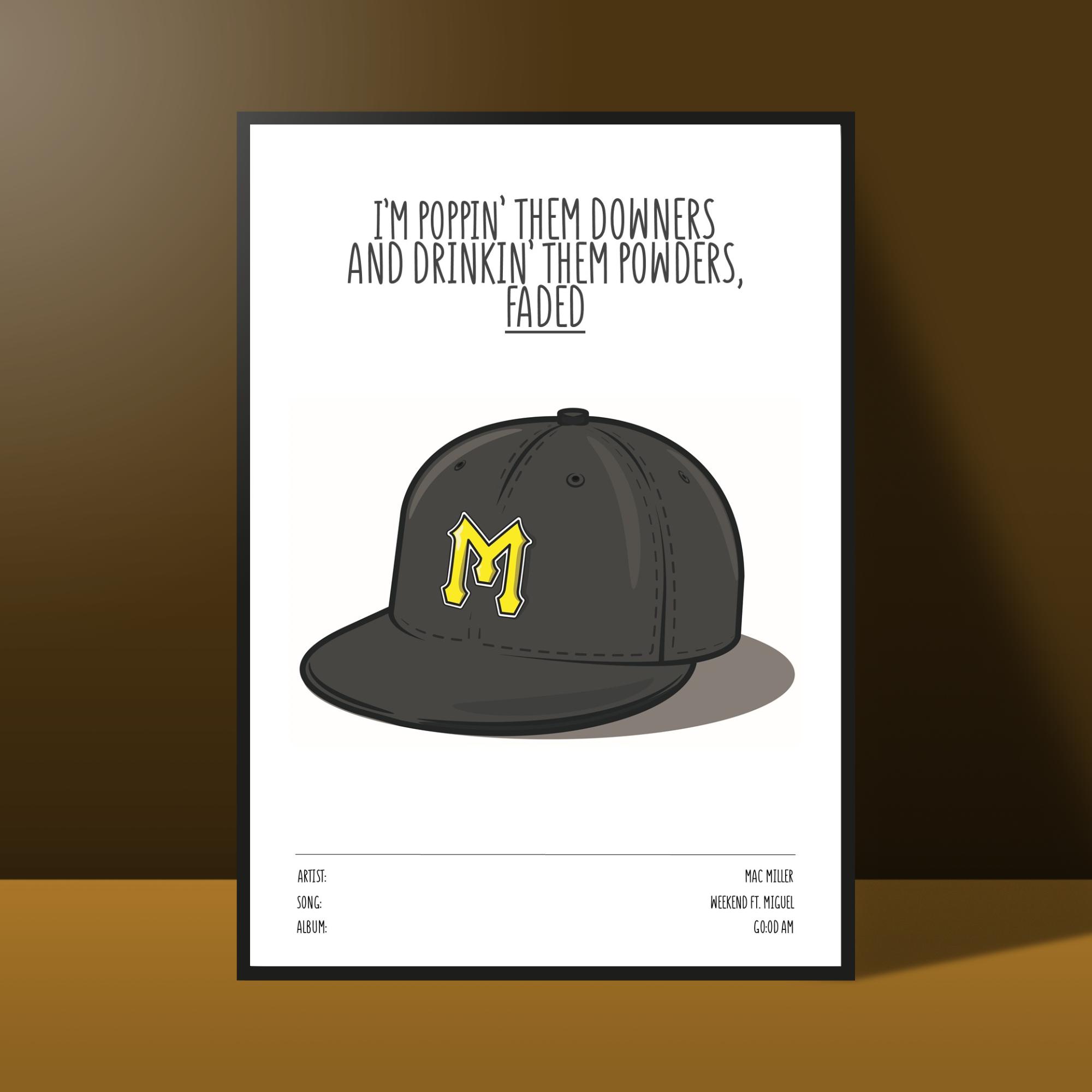 Mac Miller Poster Self Care Etsy Mac Miller Early Music Mac