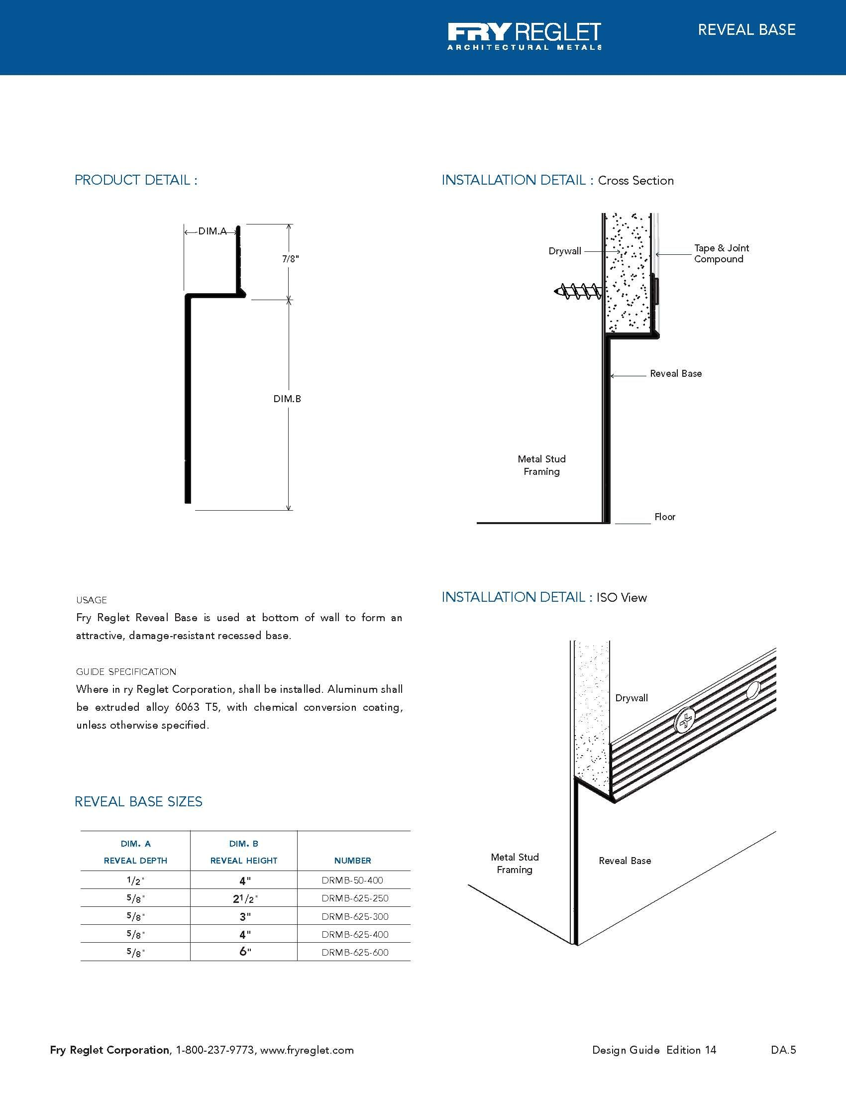 Adam Breen Details For The Baseboard And Reveal Drywall Reglets Brochure Which Are Architecture Details Baseboards Architecture