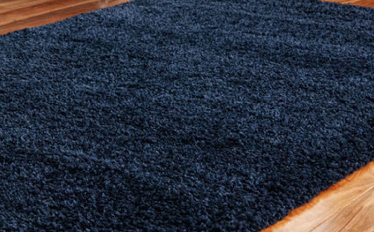 Navy blue shaggy rug for the living room. Rugs in living