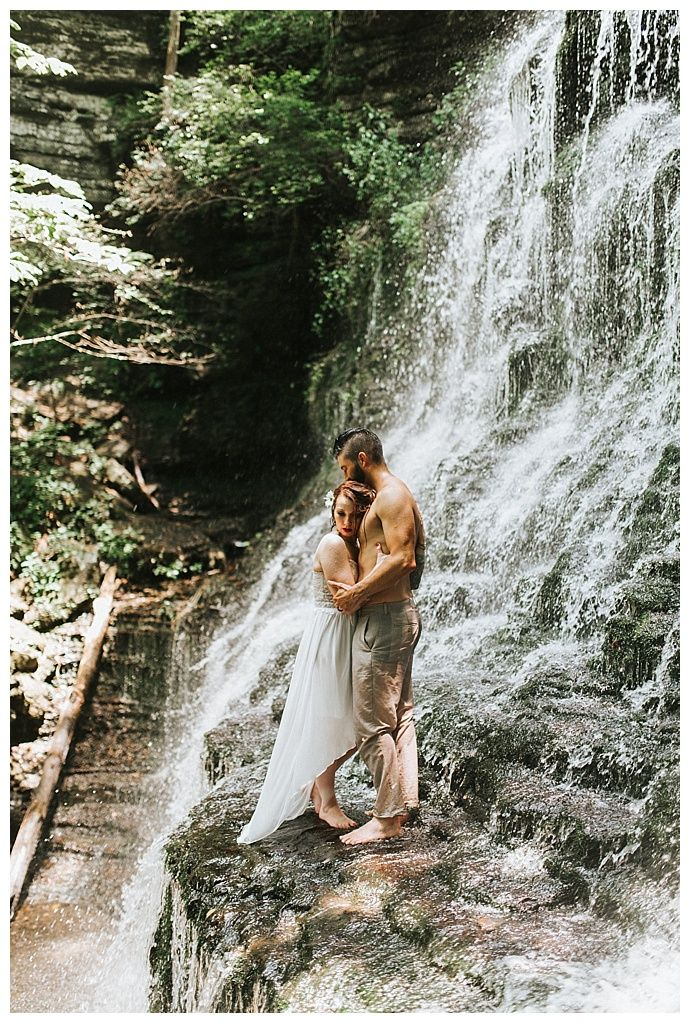 Austin and Jennie's Tennessee Waterfall Elopement ...