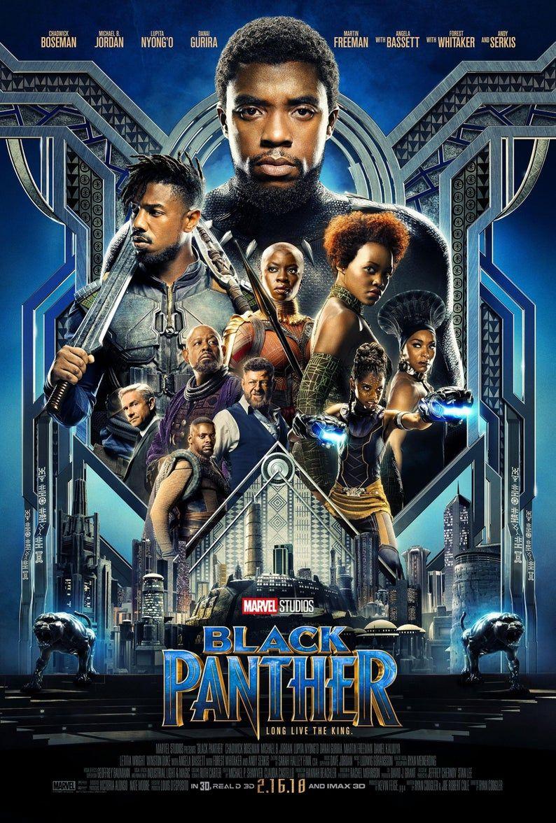Black Panther Movie Poster Quality Glossy Print Photo Art Chadwick Boseman, Michael B. Jordan Sizes 8x10 11x17 16x20 22x28 24x36 27x40 #1