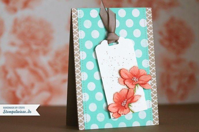 Glückwunschkarte mit Peaceful Petals « Stempelwiese