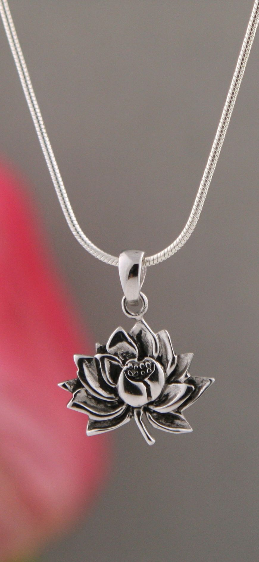 sterling pierced pendant silver product s handmade lotus tom jewelry foolery saw chainmaille
