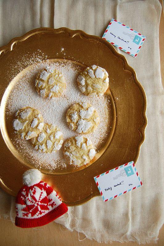 Technicolor Kitchen: Cookies craquelados de limão siciliano para encerrar a série de Natal