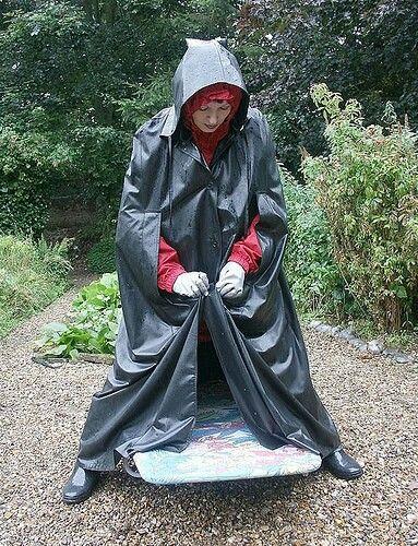 SBR cape over rainsuit
