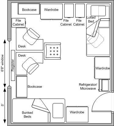 Baker Hall West Residence Halls University Housing Dorm Room Pictures Dorm Room Layouts Dorm Layout