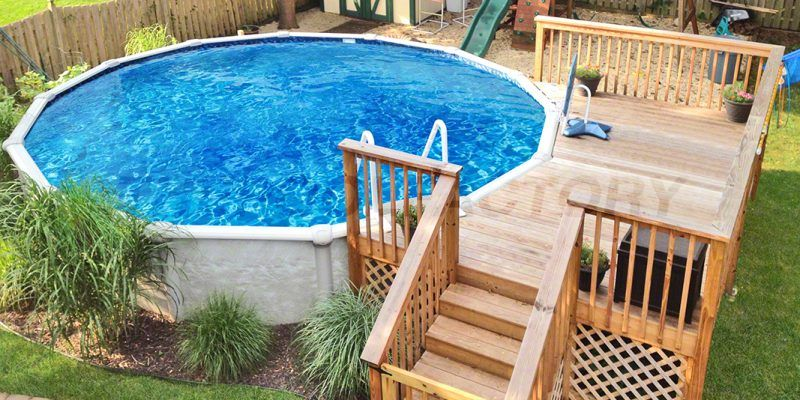 Pool Deck Ideas Partial Deck The Pool Deck Plans Swimming Pool Decks Above Ground Pool Decks