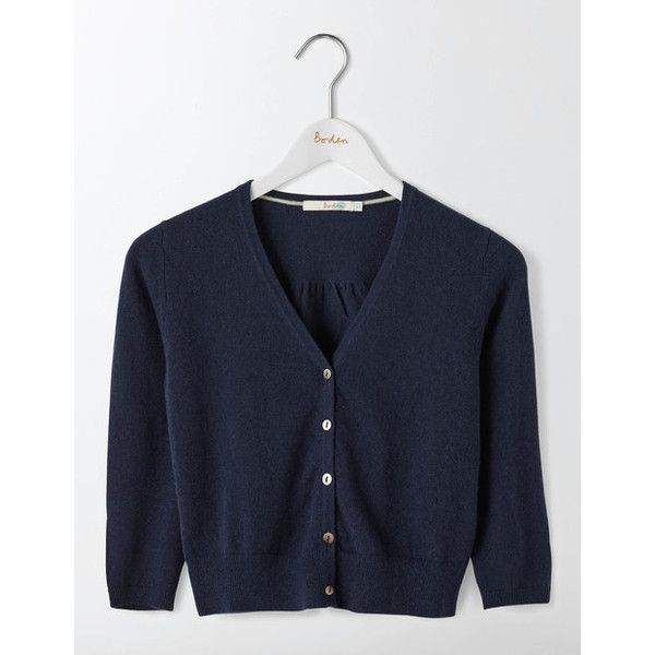 Boden Cashmere Crop V-neck Cardigan ($97) ❤ liked on Polyvore ...