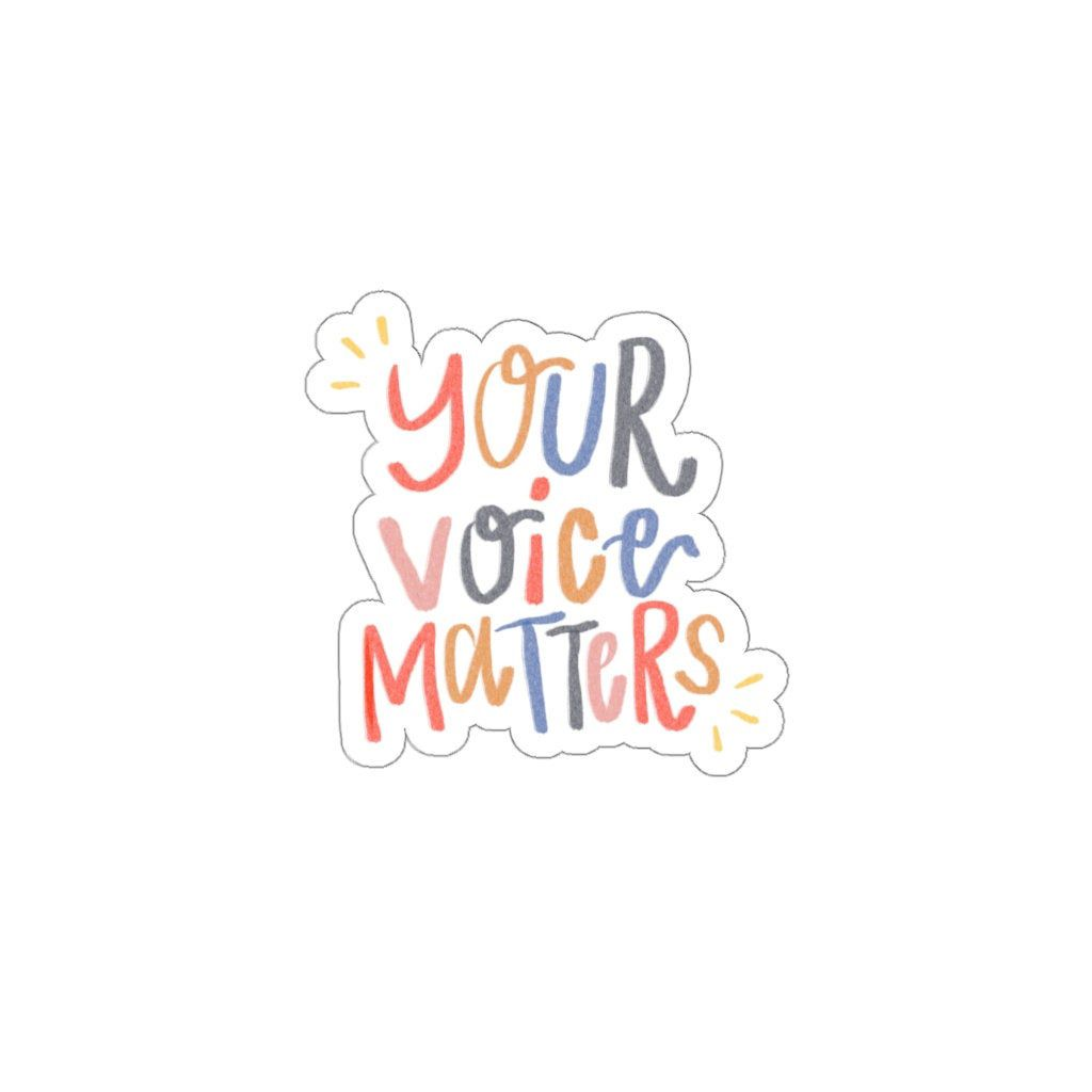 Excited to share this item from my #etsy shop: Your Voice Matters, Sticker, Quote Sticker, Inspirational Quote, Empowering Quote, Empowering Sticker, Colorful Sticker #letterswords #yourvoicematters #inspirationalquote #empowermentsticker #empowered #empoweringquote #goodvibes #positivity