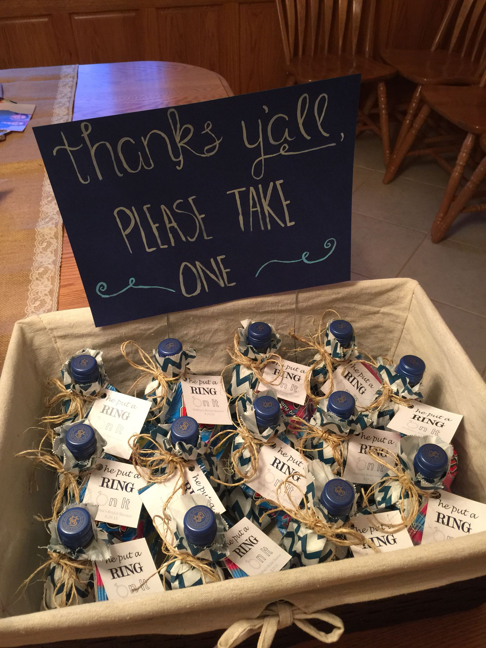 wedding shower game ideas pinterest%0A Bridal Shower Favors    he put a ring on it   w  ring pops