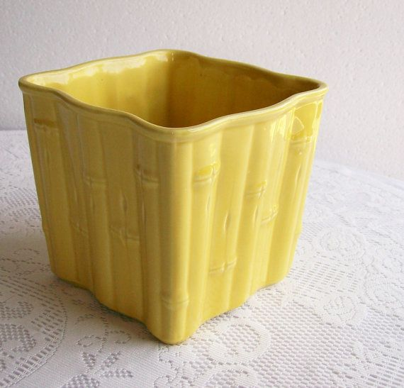 Vintage Yellow Shawnee Planter