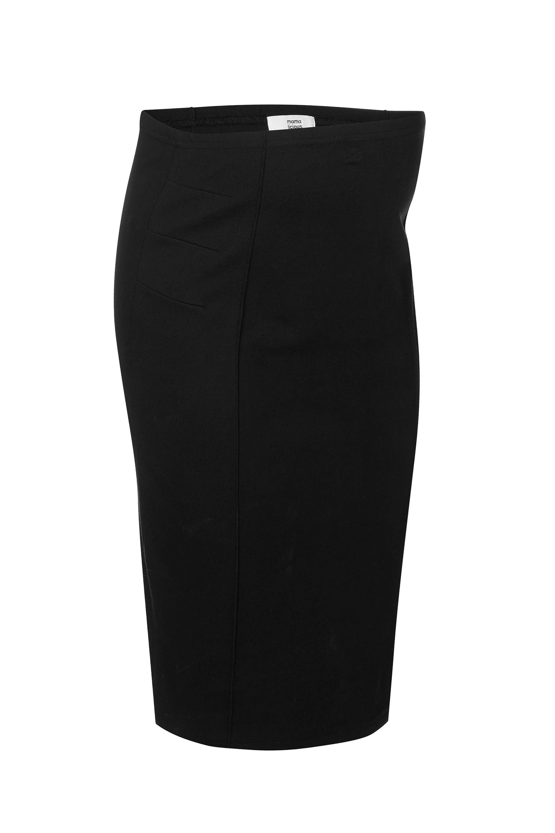 BUMP IT UP MATERNITY Black Tube Maxi Skirt With Comfort
